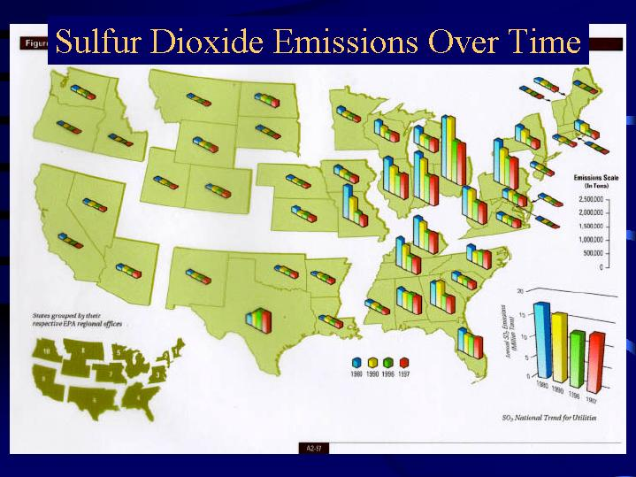 Acid Rain In The Adirondacks - Acid deposition map of us