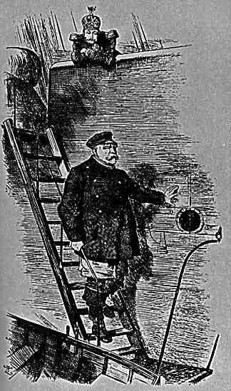 Der lotse verläßt das schiff&;, karikatur von sir john teniel aus